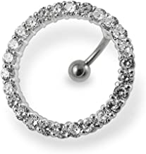 Best circle belly ring Reviews