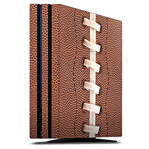 DeinDesign Skin kompatibel mit Sony Playstation 4 Pro PS4 Aufkleber Folie Sticker American Football Lederstruktur Leder