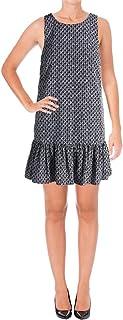 LAUREN RALPH LAUREN Womens Petites Printed Drop Waist Casual Dress