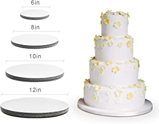 Cake Board Rounds - Cake Boards, White Round Cake Circle base - 6,8, 10 and 12 inch, 5 of each Size