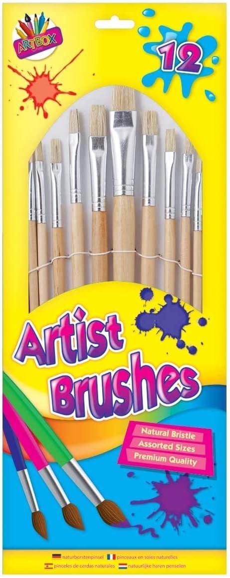 5125 12 Artist Natural Bristle Brushes
