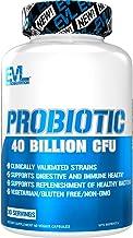 Evlution Nutrition Probiotic - 60 Probiotic Veggie Capsules - 40 Billion CFUs per Serving - Easy to Swallow Probiotic Supp...