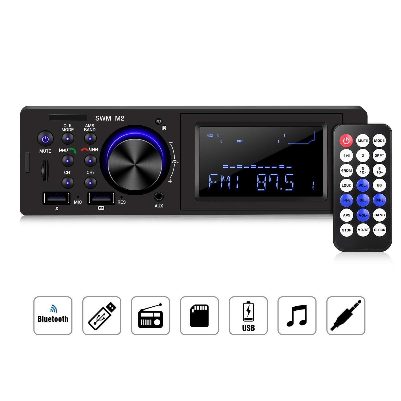 HOMEASY Radio de Coche con Bluetooth y Sintonizador FM para Coche ...