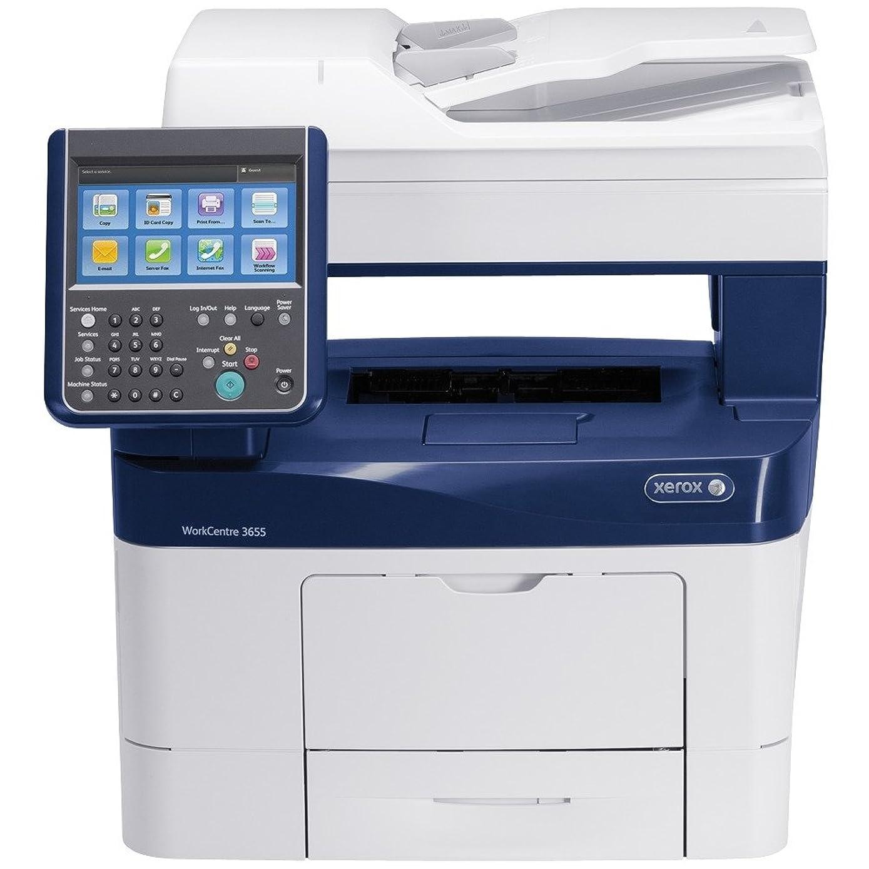 Xerox WorkCentre 3655 Laser Multifunction Printer - Monochrome - Plain Paper Print - Floor Standing - Copier/Printer/Scanner - 47 ppm Mono Print - 1200 x 1200 dpi Print - Touchscreen - 600 dpi Optical Scan - Automatic Duplex Print - 700 sheets Input - Gigabit Ethernet - USB - 3655/XM