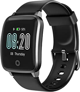 LETSCOM Smart Watch, Fitness Trackers with Heart Rate Monitor Step Calorie Counter Sleep Monitor, IP68 Waterproof Smartwatch 1.3