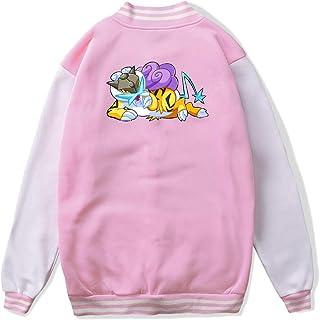 VJJ AIDEAR Pokemon Raikou Baseball Uniform Jacket Sport Coat Child Long Sleeve Hoodie Sportswear Black