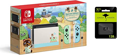 """$419 » Switch with Green and Blue Joy-Con - Animal Crossing: New Horizons Edition - Family Christmas Holiday - 6.2"""" Touchscreen L..."""