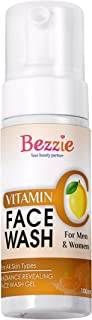 Bezzie Vitamin C Face Wash with Vitamin C and Turmeric Extract | Neem Leaf Extract | Vitamin E | Glow Reviving and Dullnes...