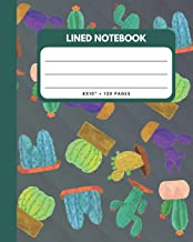 Lined Notebook: Cactus And Succulents Cover 8x10