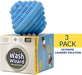 Wash Wizard - Laundry Ball - Top Rated Eco Friendly Washer Ball - Reusable for up to 1000 Washes - Chemical Free - Detergent Alternative & Replacement (3-Pack)