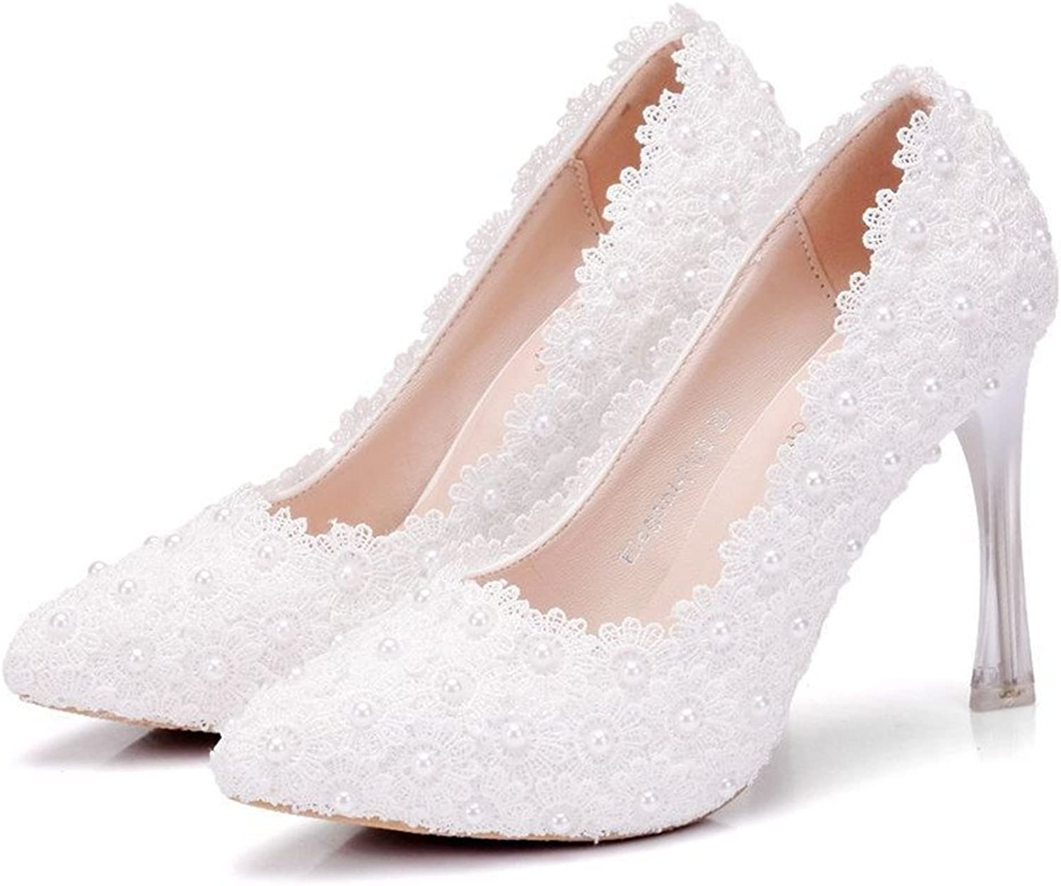 HYP Wedding Women shoes Wedding shoes Women Pumps Closed Toe Wedding Party Court shoes Bridesmaid Bridal shoes Crystal tip