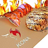 Kona Copper Grill Mats - Best Non Stick BBQ Grilling Mats for Gas Grills, Electric, Charcoal, Smokers (Set of 2)