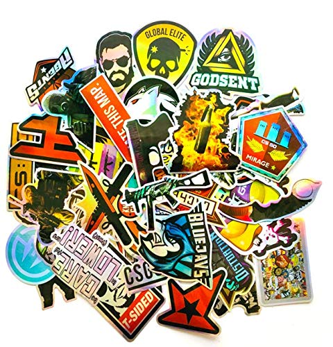 Counter-Strike Cs Go Game Peripheral Graffiti Personalized Luggage Computer Mobile Phone Skateboard Waterproof Stickers 50 Sheets