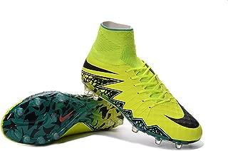 SusranZast Shoes Mens Hypervenom Phantom II FG Yellow Soccer Football Boots