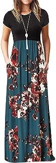 Ulanda Elegant Women's Maxi Dress Floral Printed Autumn Long Sleeves Casual Tunic Long Maxi Dress …