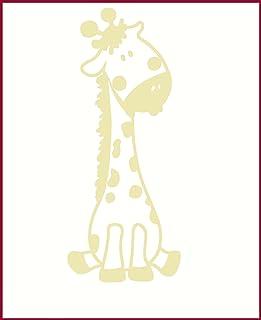 Wall Decor Plus More Baby Giraffe Wall Sticker for Nursery or Child's Room Decor Vinyl Decal 24x10 Beige Beige