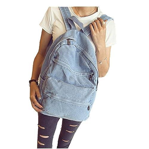 554451afdd4c ShengTu Girls Vintage Denim School Bag College Jeans Backpack