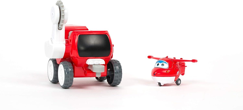 Super Wings Transfom a BOT Vehicle Veh/ículo y Figura de 5 cm Astras Moon Rover