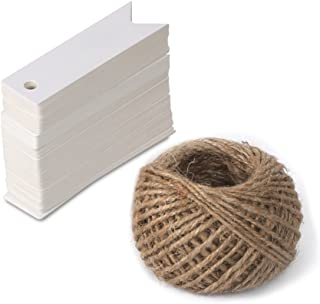 100 Pcs Kraft Paper White Gift Tags with String Vintage Wedding Favor Tags Gift Tag Hang Price Tags 2.75