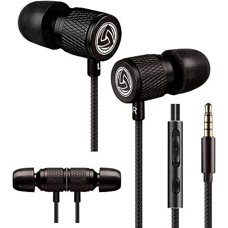 LUDOS ULTRA イヤホン 有線 カナル型イヤホン ハイレゾイヤフォン 重低音 マイク付き リモコン 通話可能 音量調整 音漏れ防止 PC対応