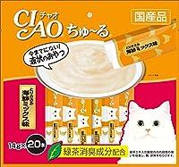 (まとめ買い)いなばペットフード CIAO ちゅ~る とりささみ 海鮮ミックス味 14g×20本入り SC-128 猫用 【×4】