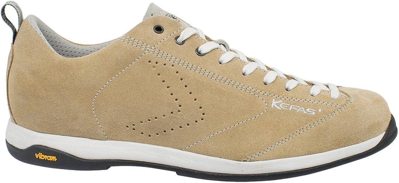 KEFAS - Suede Italian shoes, Vibram Sole + EVA, Globelite Beige Capuccino 41