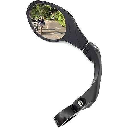 HF-MR095 Left Glass Lens Hafny New Handlebar Bike Mirror HD,Blast-Resistant