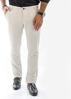 ba3704f51e0c0 DeepSEA Kare Desenli Slim Fit Erkek Keten Pantolon 1602370