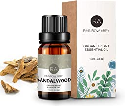 RAINBOW ABBY Sandalwood Essential Oil 100% Pure Therapeutic Trade Aromatherapy Oil for Diffuser, SPA, Perfumes, Massage, S...