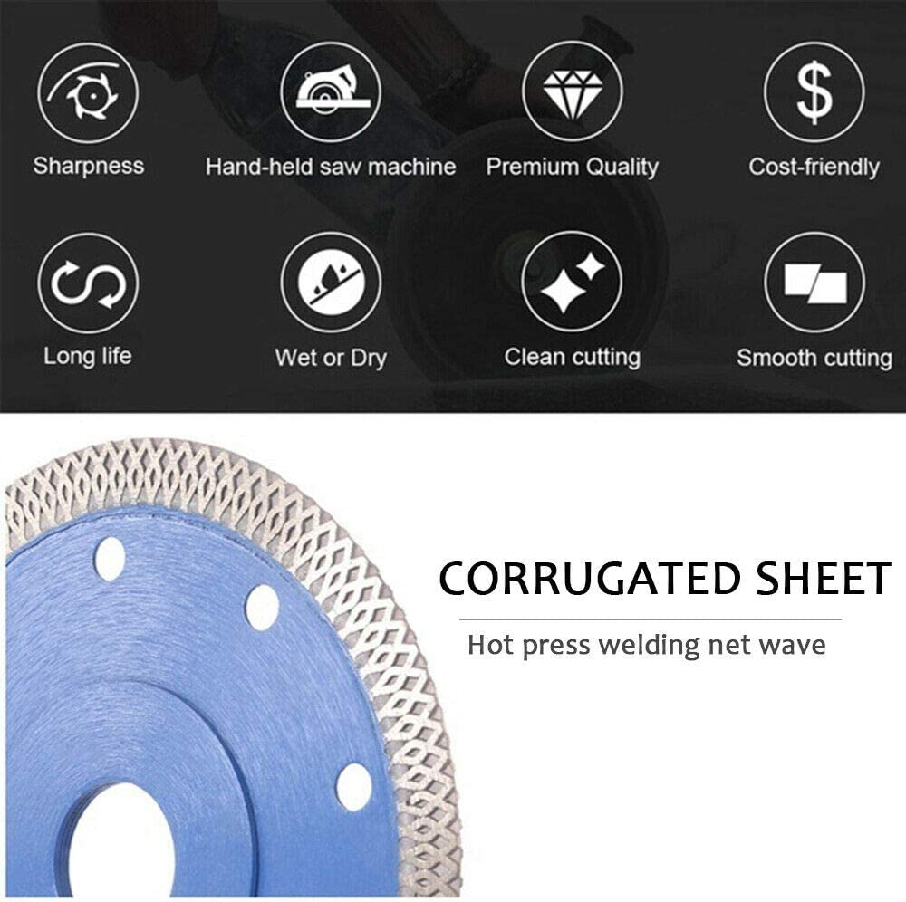 Porcelain Tile Turbo Thin Diamond Dry Cutting Blade//Disc Grinder Wheel 4 inch-7 inch 115-180mm 4.5 Inch 115mm