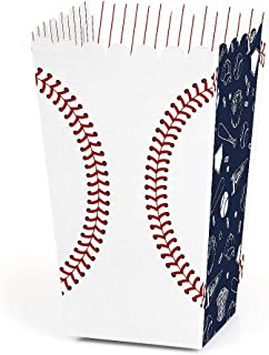 Batter Up - Baseball - Baby Shower or Birthday Party Favor Popcorn Treat Boxes - Set of 12