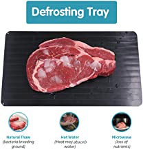 GFCC Fast Defrosting Tray Meat Defroster Tray Defrost Tray - The Safest Way to Rapid Thaw Meat, Fish or Frozen Food Without Electricity, Microwave, Hot Water or Any Other Tools