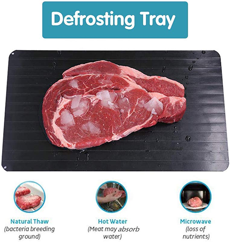 GFCC Fast Defrosting Tray Meat Defroster Tray Defrost Tray The Safest Way To Rapid Thaw Meat Fish Or Frozen Food Without Electricity Microwave Hot Water Or Any Other Tools