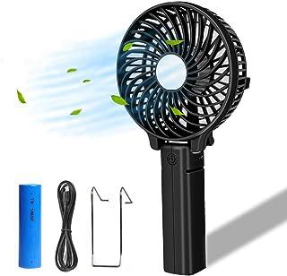 COOLEAD Plegable Mini Ventilador USB Silencioso Portátil Ventilador de Mano Pequeño Personal Hand Fan Batería Recargable Ventilador para Mesa Escritorio Cochecito de Bebé Camping Viaje Oficina PC