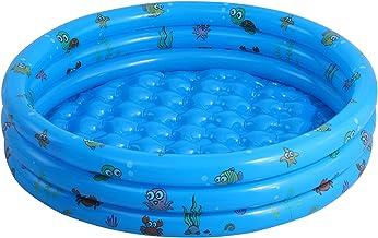 qwert Ronda Inflable Piscina,3 Capa Fácil De Montar Piscina para Bebés para Niños,Fast Pool para Backyard Garden Al Aire Libre,Azul,150x38cm