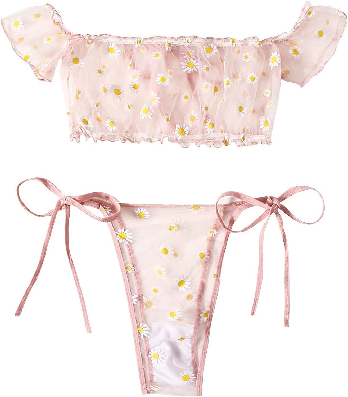 BDBD Lingerie for Women Plus Size Lingerie Set for Women Sexy Cups Flyaway Mesh Babydoll Chemise
