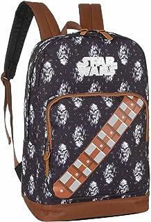 Mochila escolar masculina Star Wars Chewbaca luxcel 45826 marrom