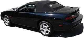 Fits: Chevrolet Camaro 1994-2002 Convertible top & Heated Glass window Black Twill