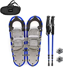Roeam Snowshoes, Lightweight Aluminum Snow Shoes with Adjustable Poles Carry Bag for Women Men