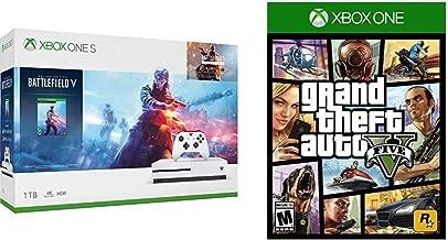 Xbox One S 1TB Console - Battlefield V Bundle Bundle with Grand Theft Auto V - Xbox One