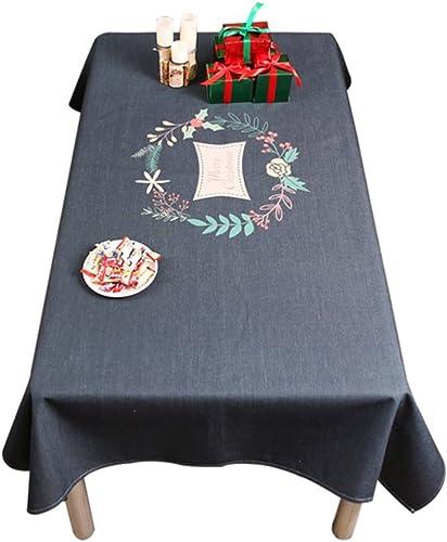 ahorra hasta un 50% Mantel De Navidad Mantel De Lino De Algodón Algodón Algodón Mantel De Comedor Té De Mesa Rectangular Cubículo De Escritorio De Computadora negro,B,140210Cm  venta al por mayor barato