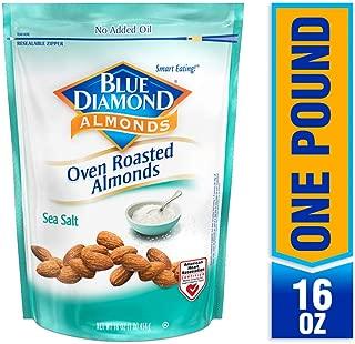 Blue Diamond Almonds, Oven Roasted Sea Salt, 16 Ounce