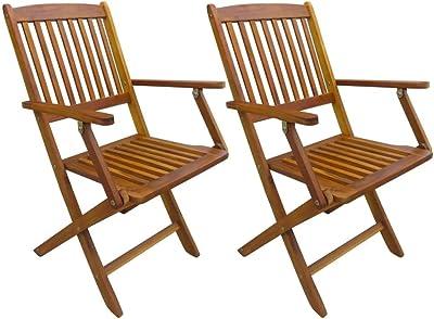 Bentley Garden - 2 sillas de madera con reposabrazos ...