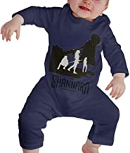 RuiPeng Baby Boys Girls Round Neck Long Sleeve Romper The Shannara Chronicles Cartoon Funny Jumpsuits Sleepwear Black