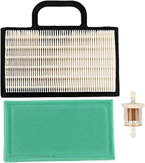 Trustsheer 698754 499486S Air Filter + 273638S 273638 Pre Filter for Briggs and Stratton 499486 691007 695667 Lawn Mower Air Filter Cartridge B&S Intek V-Twin 18-26 HP Lawn Mower Air Cleaner
