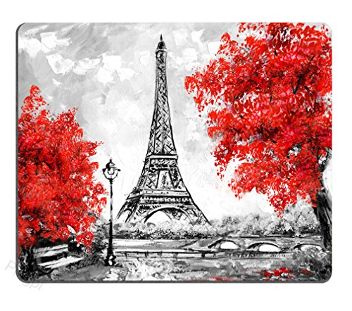 Paris Mouse pad Custom Design,European City Landscape Mouse pad Gaming Mousepad Nonslip Rubber Backing 9.5 X 7.9 Inch (240mmX200mmX3mm)