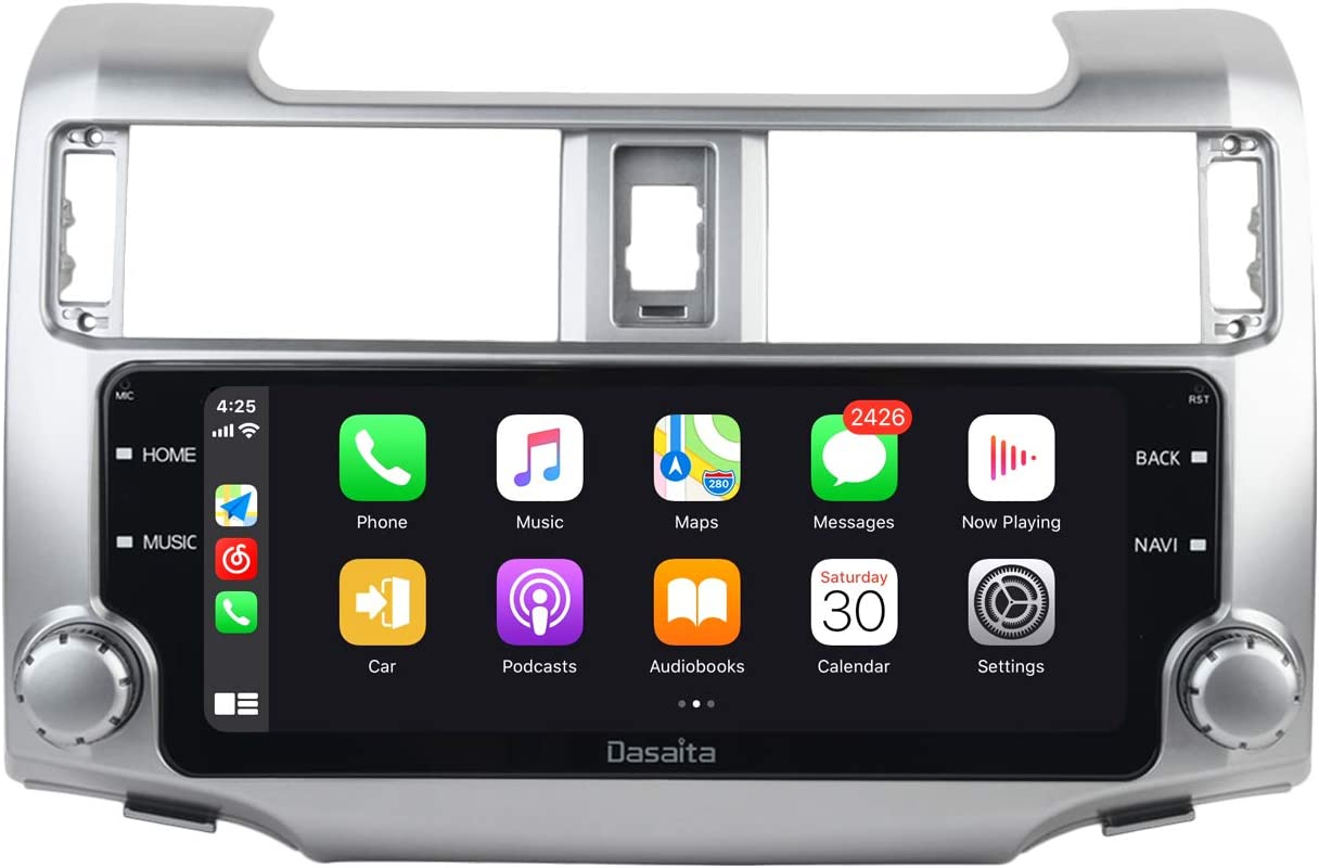 Dasaita 10.25'' Android 10 Head Unit for Toyota 4Runner 2014-2019 Wireless Carplay bluetooth Radio GPS Navigation Multimedia Music Video Player Android Auto 4G 64G PX6 DSP