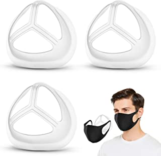 3D Face Mask Bracket, Silicone Mask Inner Support Frame, Comfortable Protector Brace for Mouth and Nose/Lipsticked Lips/Fr...