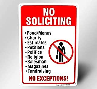 No Soliciting Sign,Big Do Not Disturb Sign,Reflective 10