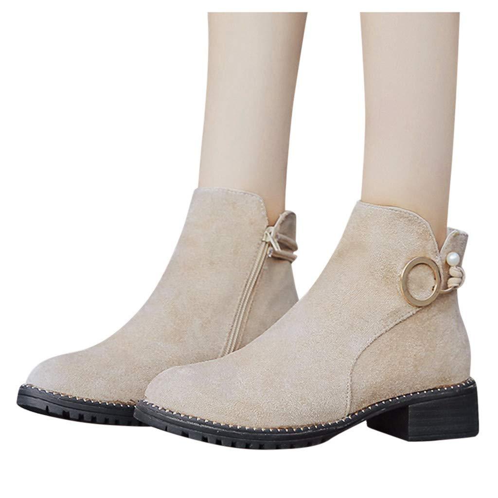 ღLILICATღ Botas de tacón Alto para Mujer,Bota de Cremallera de tacón Alto Remache Redondo y Botines Sport Botas Cortas Solo Zapato de Mujer de Invierno: Amazon.es: Deportes y aire libre